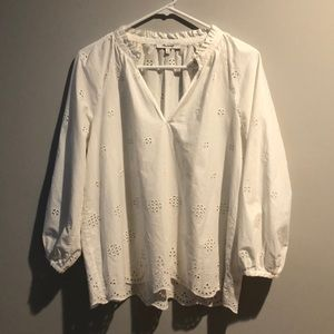 Madewell Eyelet Peasant Blouse